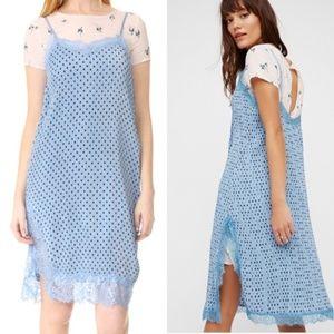 Free People  Blue Margot Slip Dress NWOT